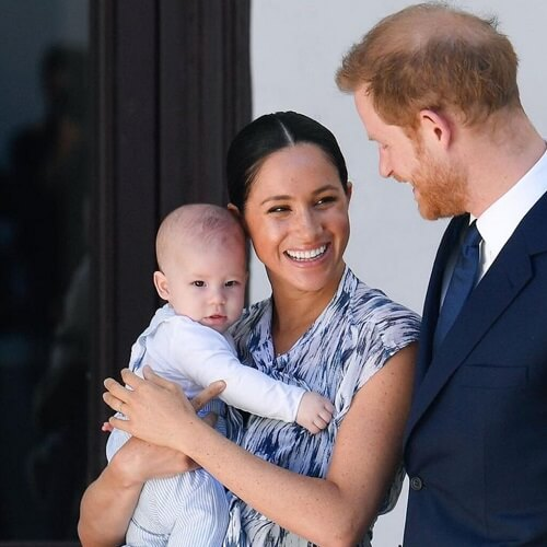 Prince Harry with Meghan Markle after leaving the royal family