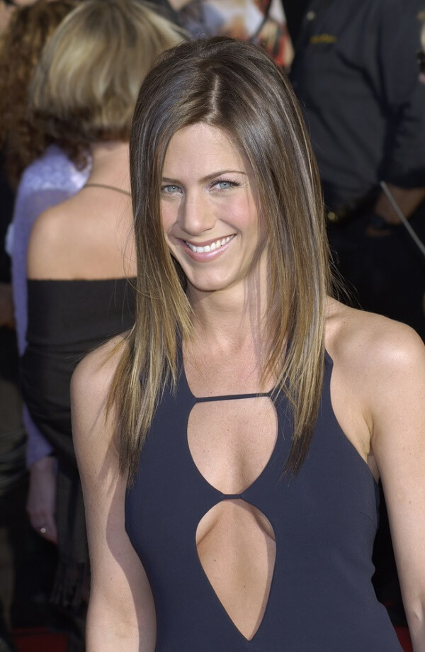 What plastic surgery Jennifer Aniston looking radiant at the Screen Actors Guild Awards in March 2003