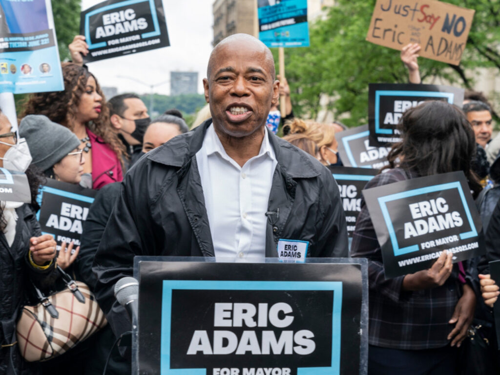 Eric Adams says he will be tough on crime. The Democratic mayoral candidate looking to beat out Republican, Curtis Sliwa, in the general election.