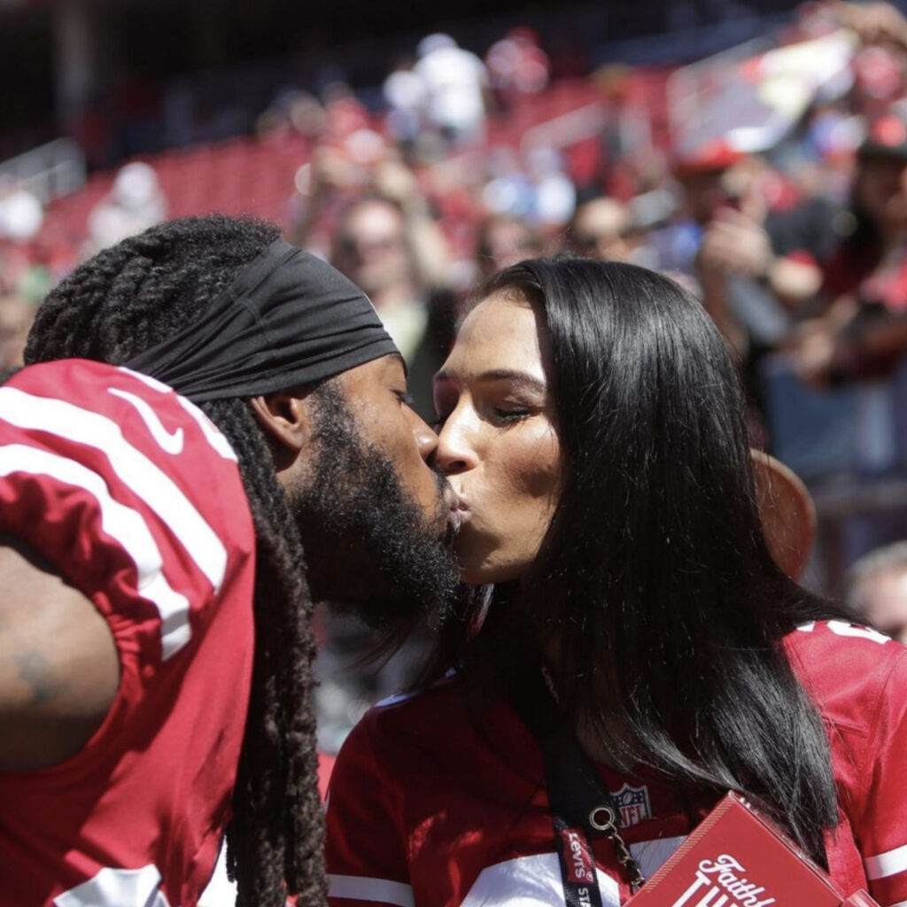 In a 911 call, Ashley Moss, Sherman's wife, detailed the drunken antics of Richard Sherman. She claimed he admitted to wanting to kill himself after breaking into his in-laws' home.