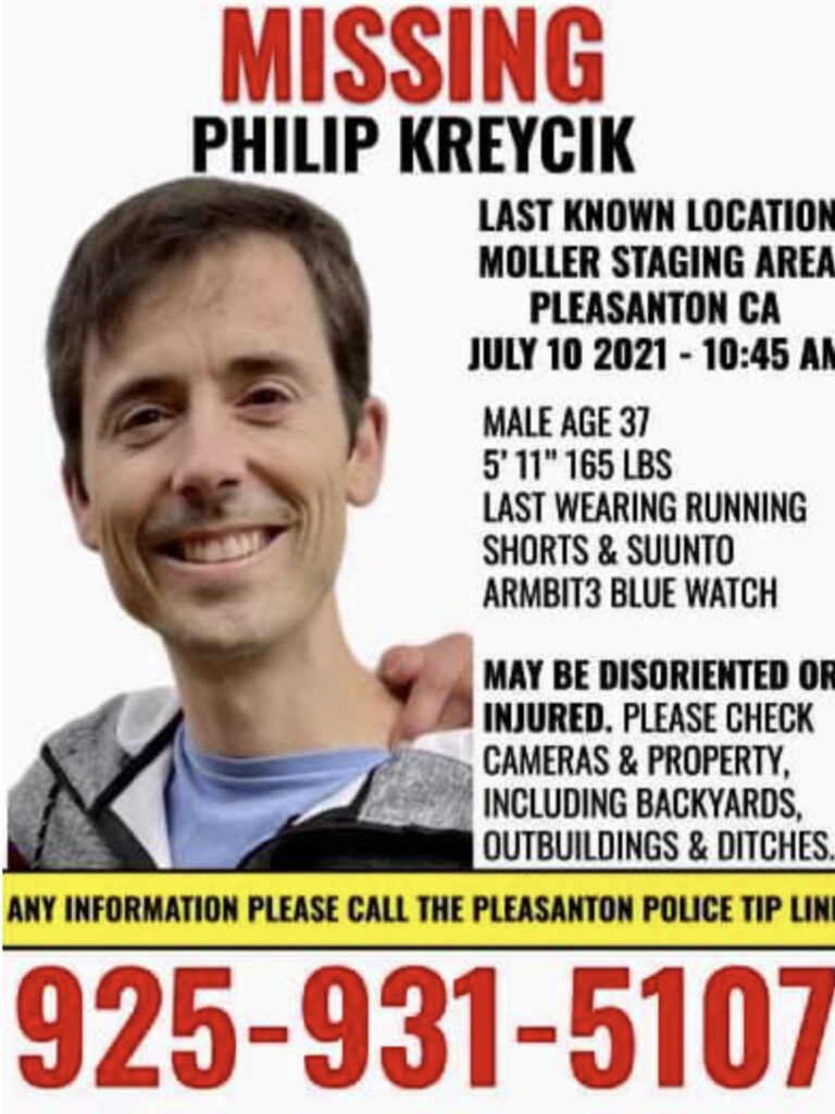 Philip Kreycik is missing. Worried community searches for missing runner after his disappearance on July 10.