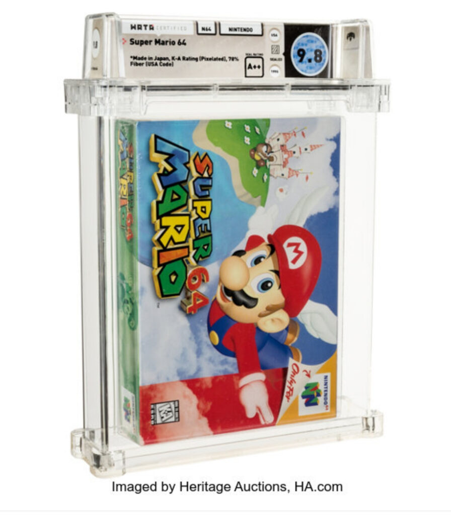 Super Mario 64 earns title for most expensive video game ever sold, setting the high score at $1.54 million.