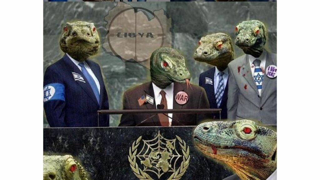 People who believe in the lizard people conspiracy theory think that many of our governments are run by shape-shifting space lizards.