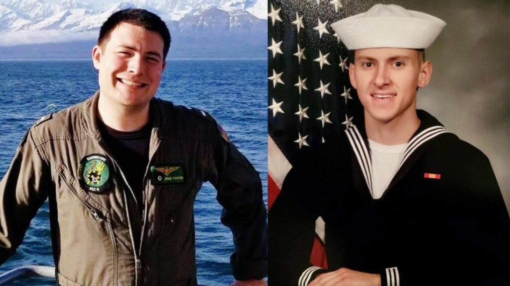 Lieutenant Bradley Foster, 29, of Oakhurst, Ca. (left), and Hospital Corpsman Bailey Tucker, 21, of St. Louis, Mo. (right)