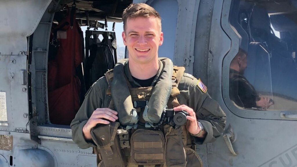 Lieutenant Paul Fridley, 28, of Annandale, Va., one of the Navy corpsman who died in the tragic helicopter accident