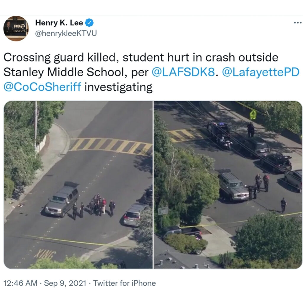 Photos show tragic scene near Stanley Middle School. Ashley Dias was struck by an oncoming SUV while trying desperately to save pedestrian students.