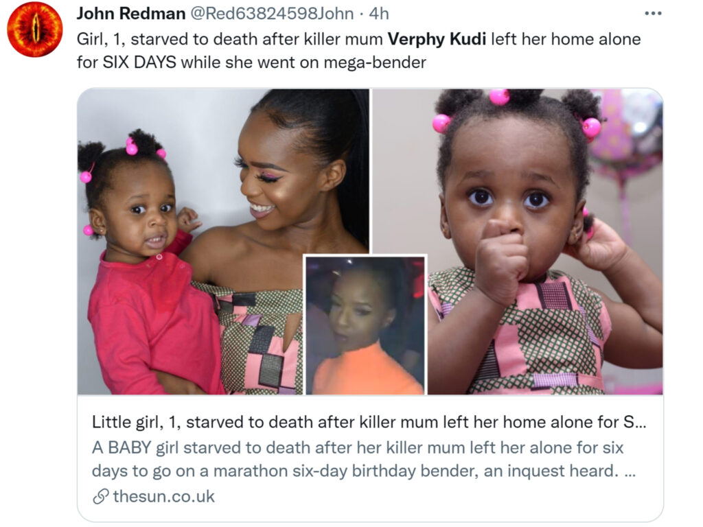 What happened to Asiah? Teen mom Verphy Kudi left her alone for six days. The 1-year-old baby starved to death in horrifying incident.