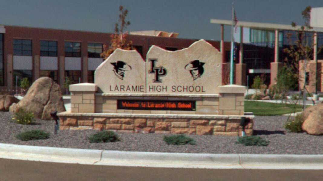 Grace Smith, 16, was arrested for trespassing at Laramie High School in Wyoming after she was suspended for violating the school's mask mandate and refused to leave the property.