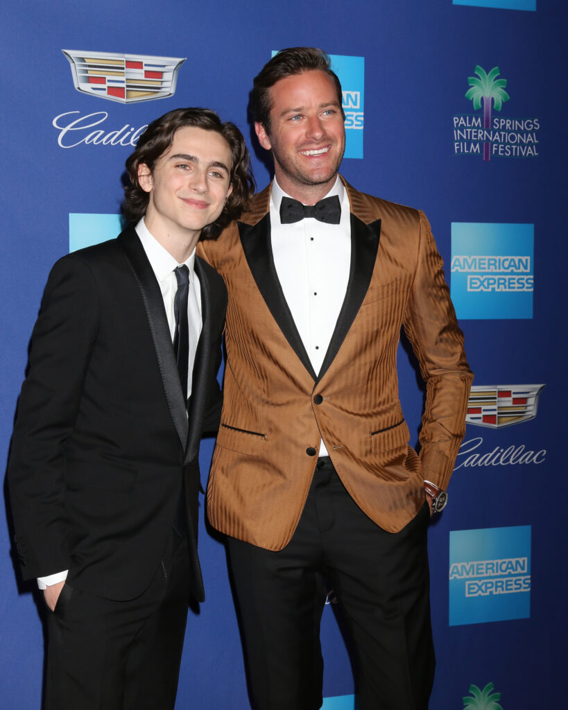 Timothee Chalamet and Armie Hammer at the 2018 Palm Springs International Film Festival Gala at Convention Center on January 2 2018